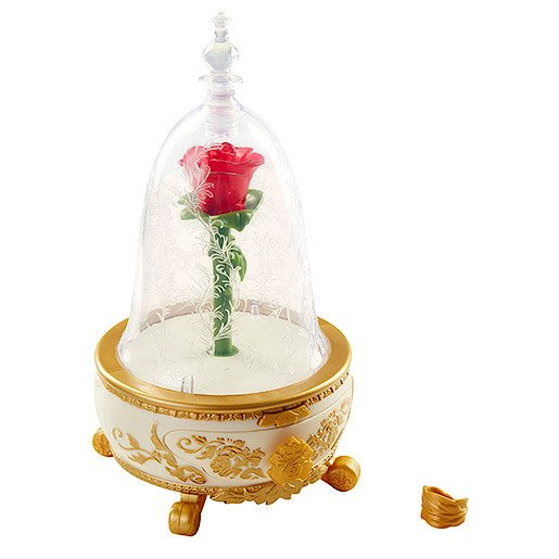 Picture of Beauty and the Beast Enchanted Rose Jewellery Box