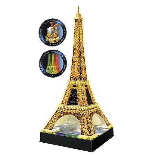 Picture of Ravensburger Night Edition Eiffel Tower with Lights