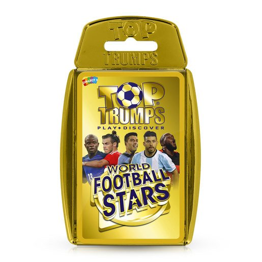 Picture of World Football Stars Top Trumps Card Game (Gold Case)