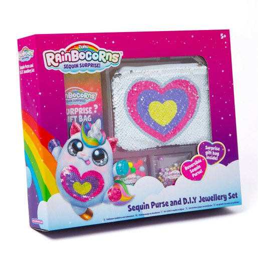 Picture of Rainbocorn Sequin Purse And D.I.Y Jewellery Set
