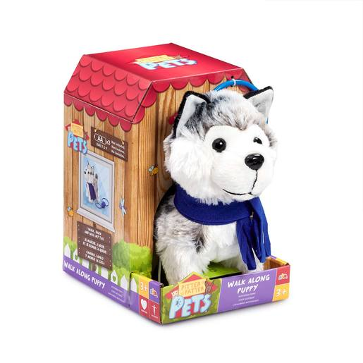 Picture of Pitter Patter Pets Walk Along Soft Toy - Husky