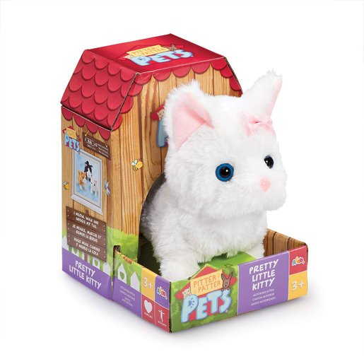 Picture of Pitter Patter Pets Pretty Soft Toy - Little Kitty (White)