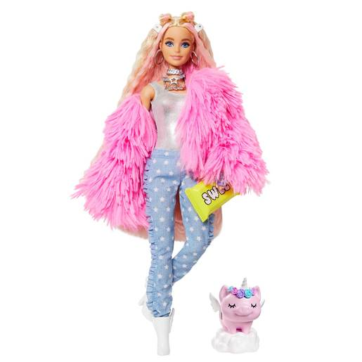 Picture of Barbie Extra Doll  - Pink Fluffy Jacket