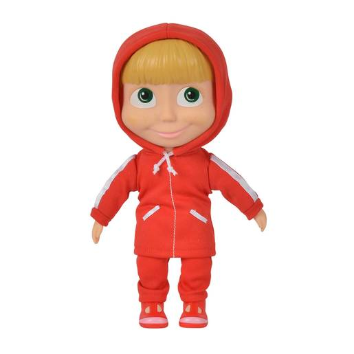 Picture of Masha and the Bear 23cm Doll - Red