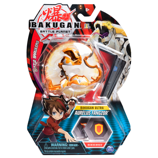 Picture of Bakugan 8cm Ultra Action Figure and Trading Card - Aurelus Fangzor