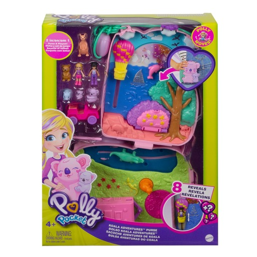 Picture of Polly Pocket Playset 'Koala Adventures Purse' Compact