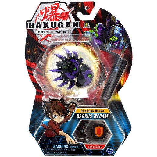 Picture of Bakugan 8cm Ultra Action Figure and Trading Card - Darkus Webam