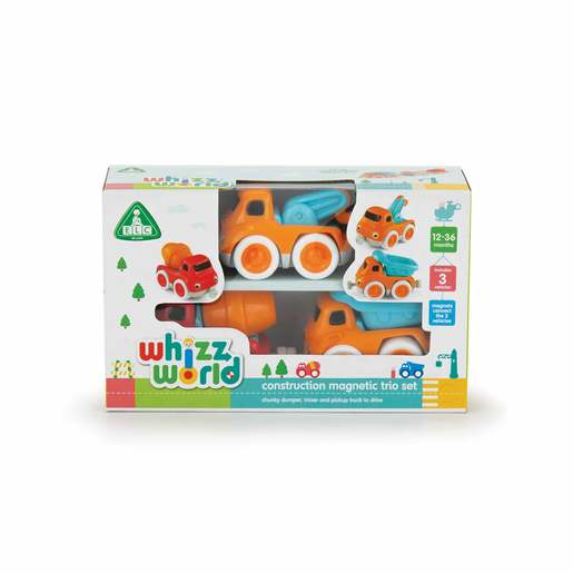 Picture of Whizz World Construction Vehicle Magnetic Trio Set