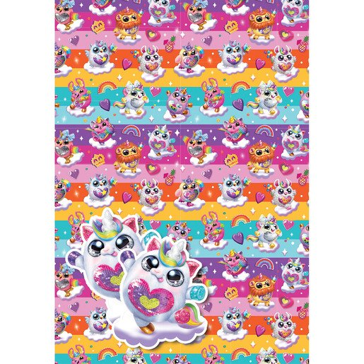 Picture of Rainbocorns Wrapping Paper - 2 Sheets and 2 Tags