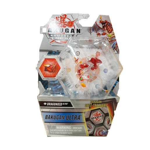 Picture of Bakugan Armored Alliance Ultra Trading Card and Figure - Dragonoid (Clear)
