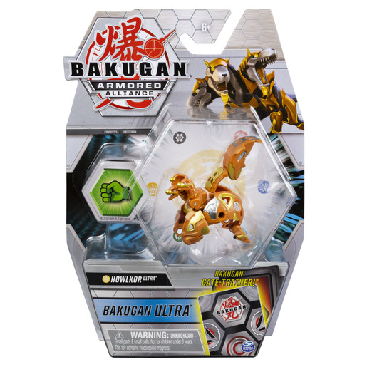 Picture of Bakugan Armored Alliance Ultra Trading Card and Figure - Howklor (Gold)