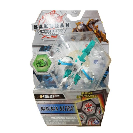 Picture of Bakugan Armored Alliance Ultra Trading Card and Figure - Howklor (White)
