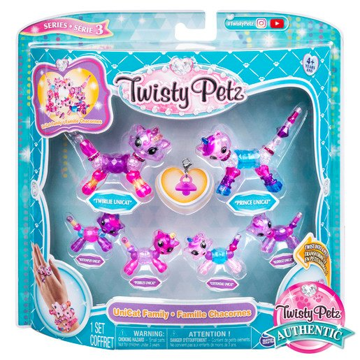 Picture of Twisty Petz Series 3 Bracelet Set - Uni-Cat Family Pack