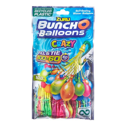 Picture of Crazy Bunch O Balloons - 100 Water Balloons 3 Pack by ZURU