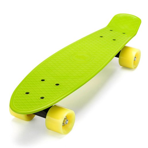 Picture of Xootz Kids Retro Plastic Complete Cruiser Skateboard with LED wheels - Green