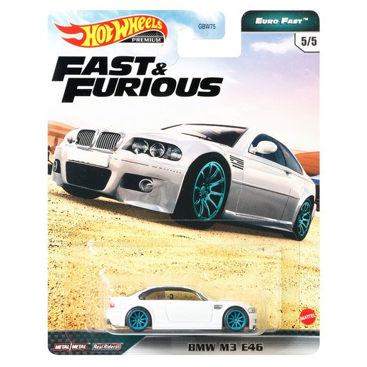 Picture of Hot Wheels X Fast and Furious Vehicle - BMW M3 E46 (White)