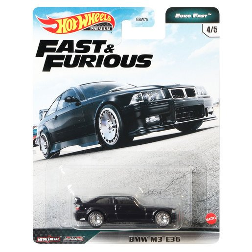 Picture of Hot Wheels X Fast and Furious Vehicle - BMW M3 E46 (Black)