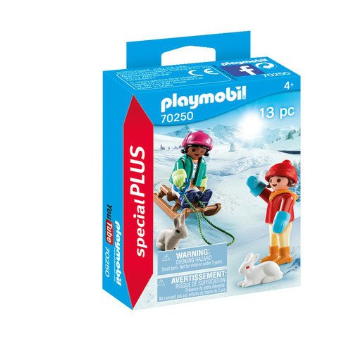 Picture of Playmobil 70250 Special Plus Children with Sleigh Figures