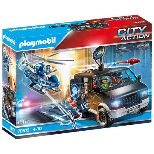 Picture of Playmobil 70575 City Action Police Helicopter Pursuit with Runaway Van