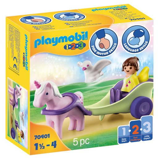 Picture of Playmobil 70401 1.2.3 Unicorn Carriage with Fairy Figures