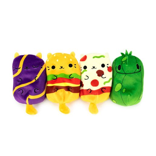 Picture of Cats vs Pickles Plush Collectable 4 Pack - Cheeseburger