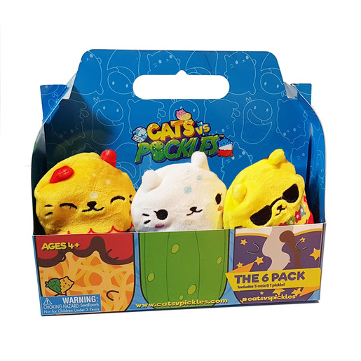 Picture of Cats vs Pickles Plush Collectable 6 Pack - Aloha
