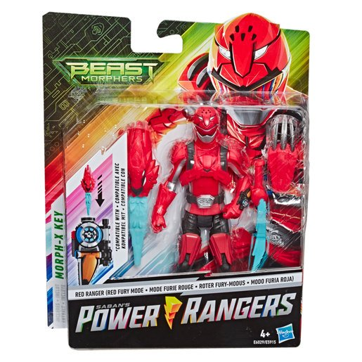 Picture of Power Rangers Beast Morphers: Red Ranger Action Figure  (6inches)