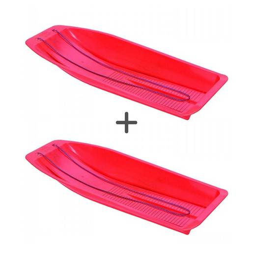 Picture of Kids Plastic Sledge Twin Pack (Colours Vary)