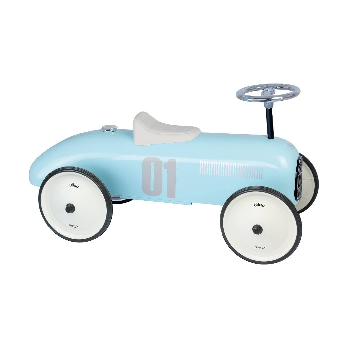 Picture of Vilac Classic Ride On Metal Car-Light Blue (NEW)