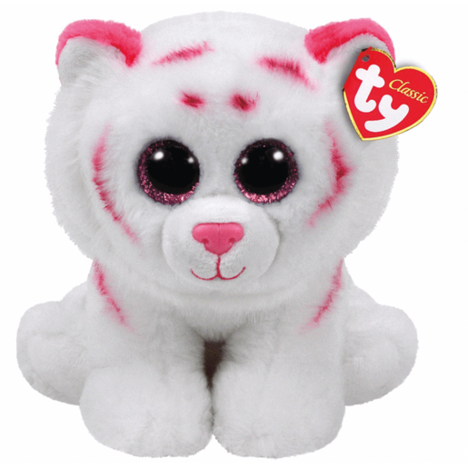 Picture of Ty Beanie Babies 25cm Classic Soft Toy - Tabor the White Tiger
