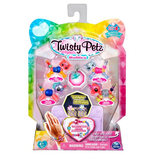 Picture of Twisty Petz Series 4 Babies - 4 Pack Tikky & Likky Snow Leporads With Noodie & Doodle Unicorns