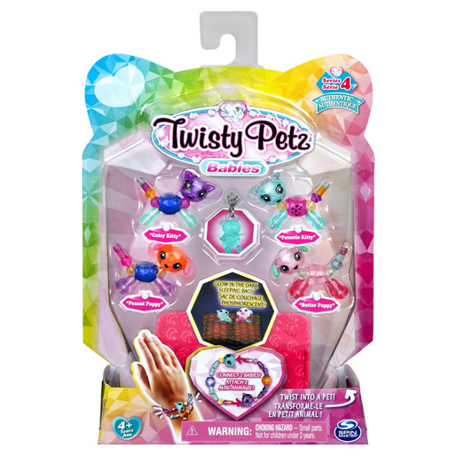 Picture of Twisty Petz Series 4 Babies - 4 Pack Cutey & Patootie Kitties With Peanut & Butter Puppies