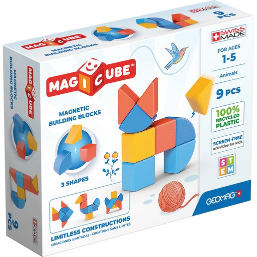 Picture of Geomag Magicube Magnetic Animal Shape Blocks – 9pc