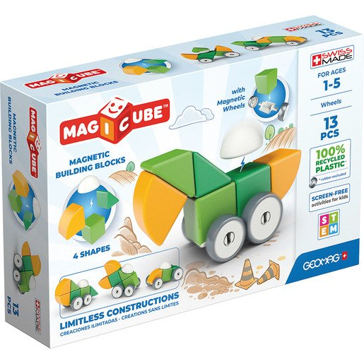 Picture of Geomag Magicube Magnetic Blocks & Wheels Set – 13pc