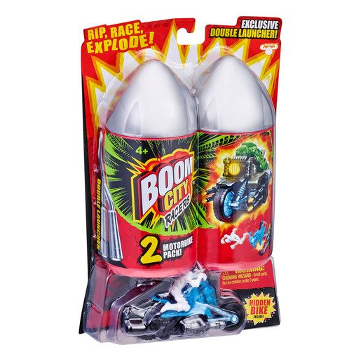 Picture of Boom City Racers Exploding Motorbike - Booms Bones and Gunna Getcha (2 Pack)