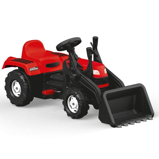 Picture of Dolu Pedal Tractor and Excavator - Red