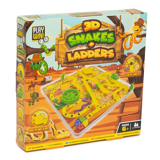 Picture of Play & Win 3D Snakes And Ladders Travel Game