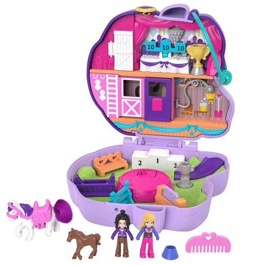 Picture of Polly Pocket Playset 'Jumpin' Style Pony' Compact