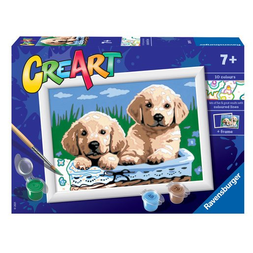 Picture of Ravensburger: Painting By Numbers - Cute Puppies