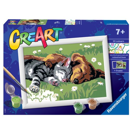 Picture of Ravensburger: Painting By Numbers - Sleeping Cats & Dogs