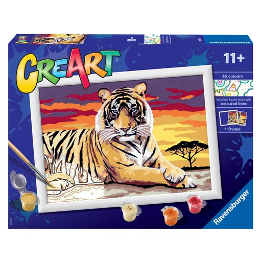 Picture of Ravensburger: Painting By Numbers - Majestic Tiger