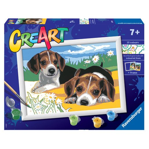 Picture of Ravensburger: Painting By Numbers - Jack Russell Puppies