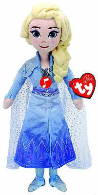 Picture of Ty - Frozen 2 Disney Princess Elsa Plush Doll with Sound