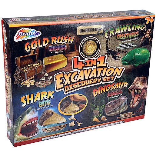 Picture of Dig and Discover - 4in1 Excavation Discovery Set